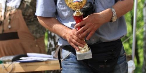 1 место лабрадор-ретривер Кенди Долл Тьюлип Фестиваль (Флипер), ведущий Андрей Свечников.